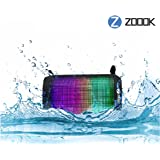 Zoook ZB-RockerMini Splash-Proof Wireless Bluetooth Portable Speaker with Dynamic LED Lights and HD Sound