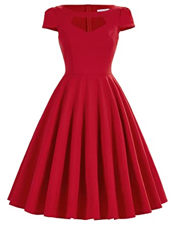 50s Style Girls Prom Dresses Victorian Fit and Flare Dress Size M BP0189-2