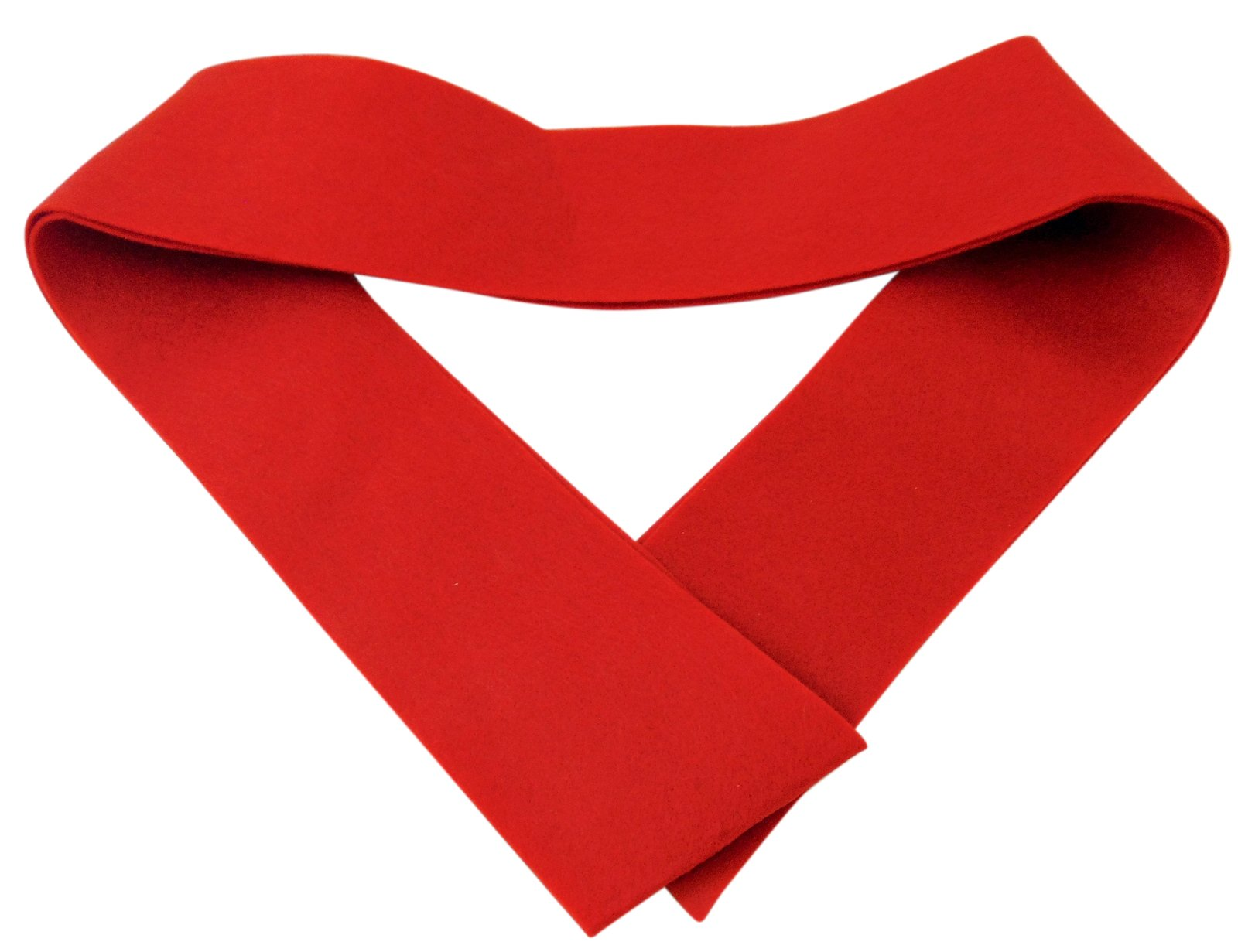 Westman Works Plain Red Confirmation Stole Felt Made for Personalizing 45 Inch Long