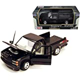 New 1:24 W/B AMERICAN CLASSICS COLLECTION - BLACK 1992 Chevrolet Chevy SS454 Pick Up Truck Diecast Model Car By MOTOR MAX