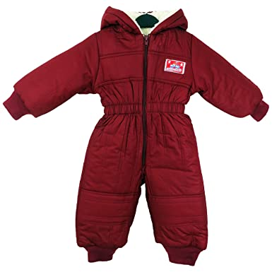ad75e54d815d Kids Insulated Padded Snow Suit Cozy Winter Girls Boys Baby All-in ...