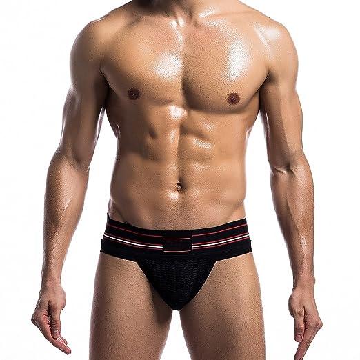 2a3fb4377b0 K-Men Men s Sexy Low-Rise Jockstrap Thong Underwear Panties for Gay ...