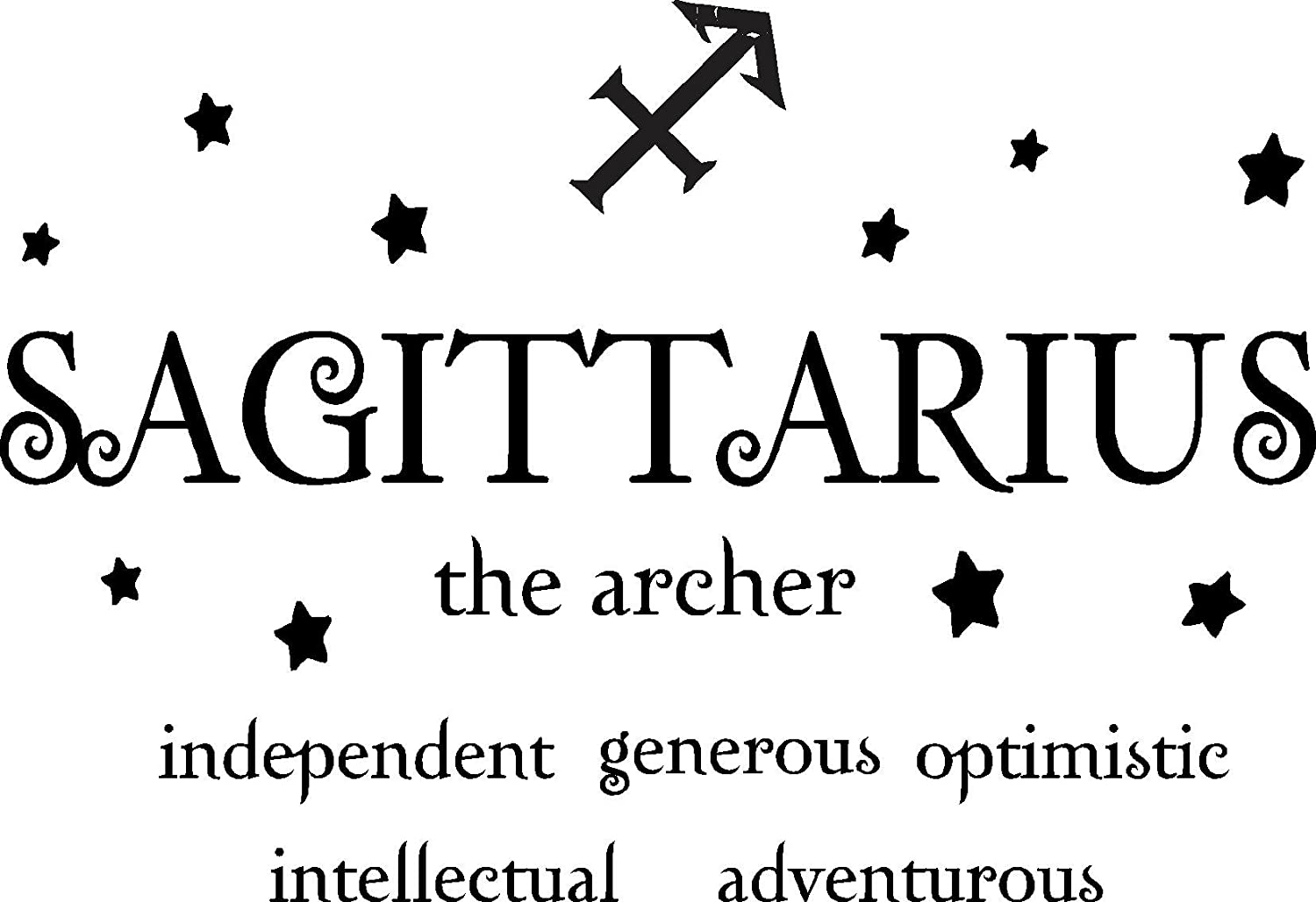 Sticker Perfect Sagittarius The Archer Horoscope Zodiac Vinyl Wall Art Decal Home Decor Sayings