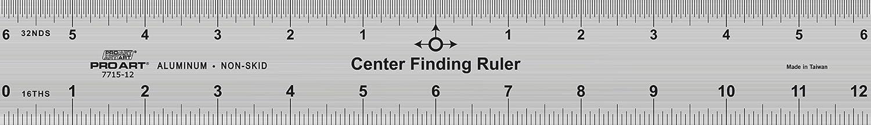 Pro Art Center Finding Ruler, 12-Inch PRO-7715-12