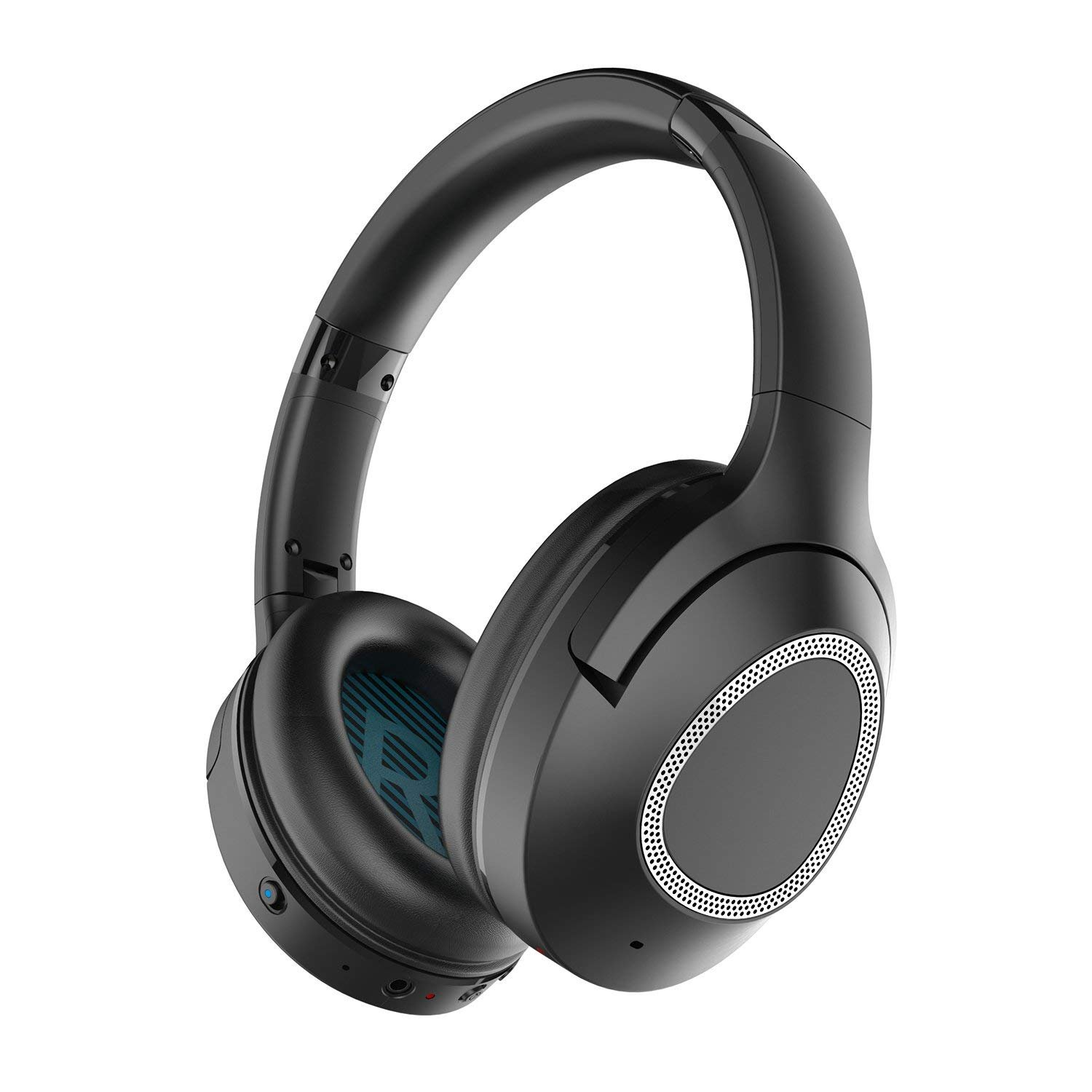 iDeaPLAY Active Noise Cancelling Headphones, Bluetooth 4.2 with apt-X, Wireless Over Ear Headphones with Microphones, 30 Hours Playback