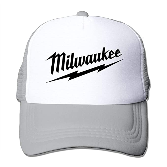 c234052112b52 Image Unavailable. Image not available for. Color  Fashion Milwaukee Logo  Mesh Black Adjustable Caps Running Baseball Hats