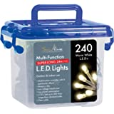 Snowtime 240-LED Chaser Lights with Memory Function, Warm White