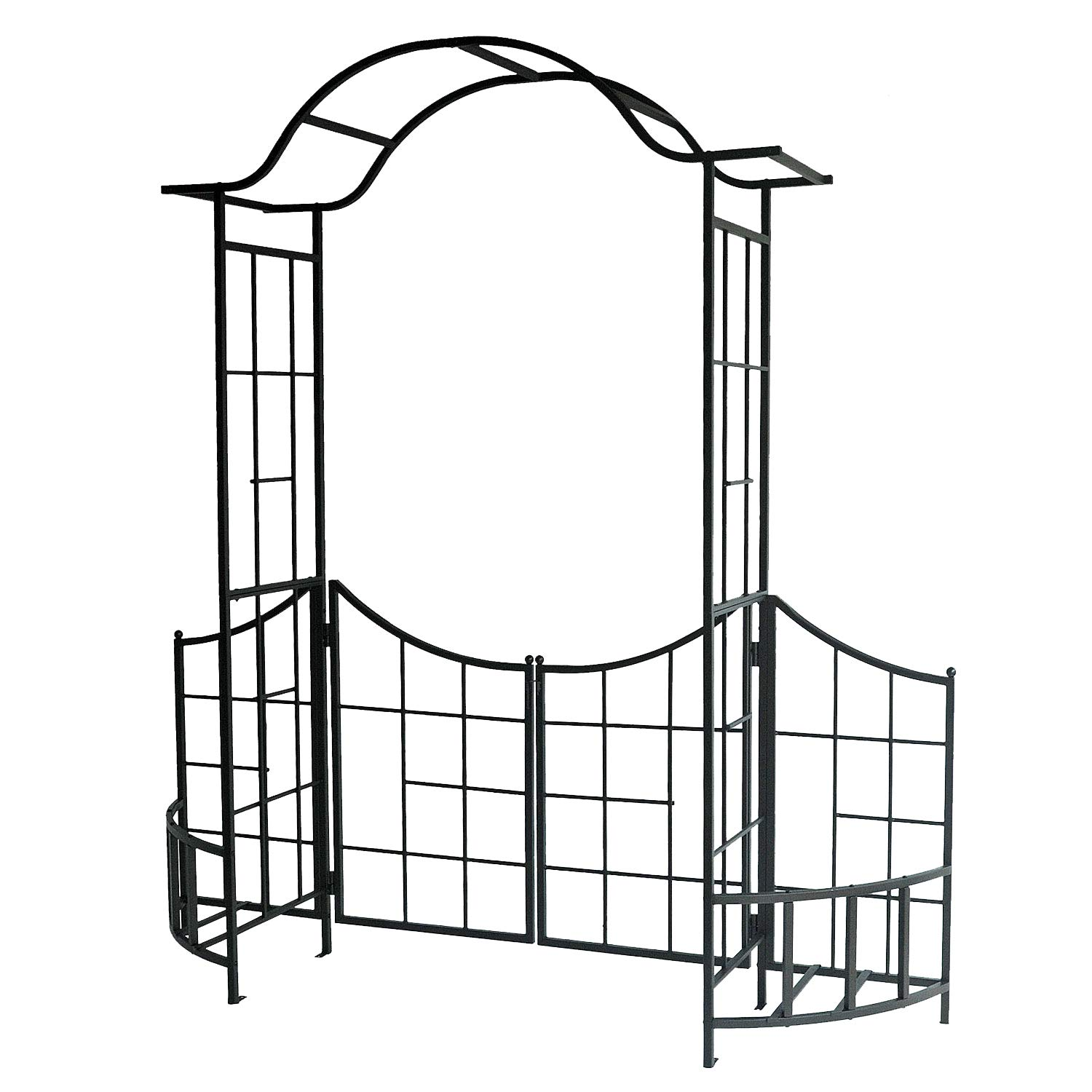 Leisurelife Garden Arbor with Gate, Fence and Planter Holders