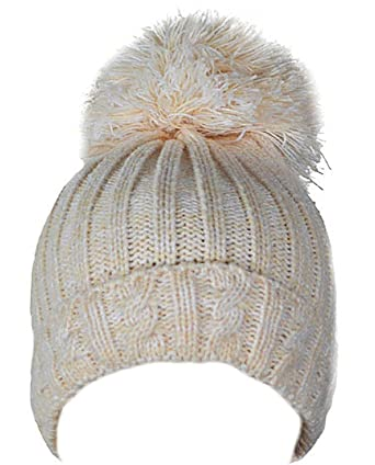 cb5faca68 Soft Touch Baby Boys Girls Cable Knit Hat with Large Pom-Pom 0-12 Months  H480