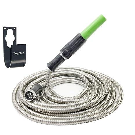 Etonnant Buyplus Metal Garden Hose Stainless Steel Metal Hook Lightweight,  Kink Free, Stronger Than