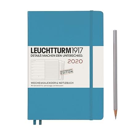 Agenda y cuaderno 2020, tapa dura, A5, 12 meses, color azul ...