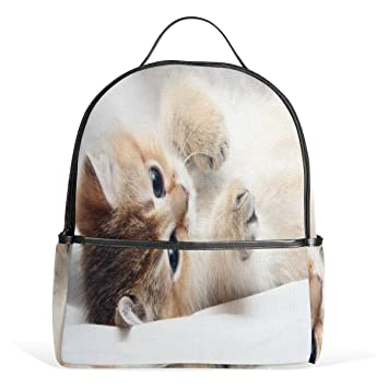 Amazon.com  Travel Backpack Cool Cute Laptop Backpack with Spoiled Little  Kitten School Bag Laptop Bookbag Daypack for Women Men Kids  Colbert Stella  Hut 65aba01592adf