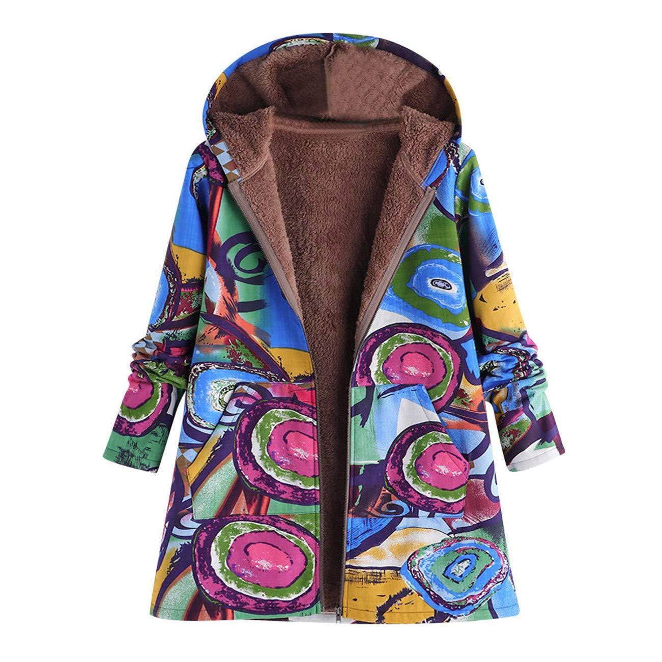 AMUSTER -Inverno Autunno Donna Elegante Cerimonia Fashion Casual Plus Size Incappucciato Manica Lunga Cotone Lino Lanuginoso Pelliccia Cerniera Cappotto Outwear