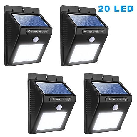 Amazon miserwe solar led lights 4 pack solar motion light 20 miserwe solar led lights 4 pack solar motion light 20 led motion sensor led solar lights workwithnaturefo
