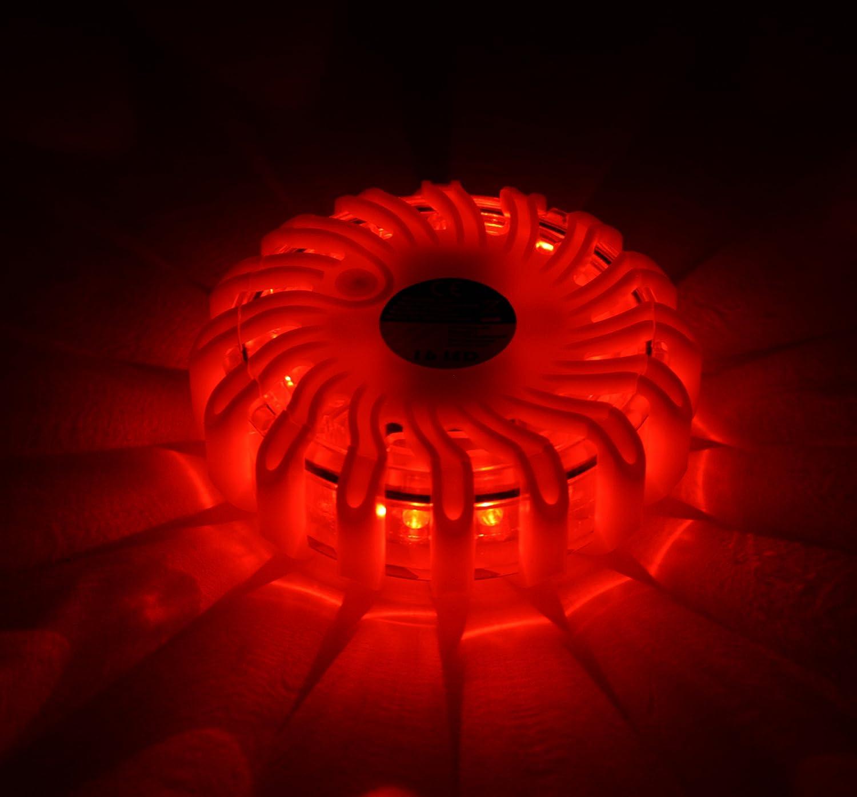 4 x LED Notfall Warnleuchte Leuchte Rot SOS Spar-Set My-goodbuy24