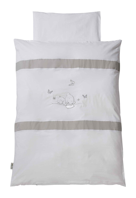 Easy Baby 810-90 Bettwäsche, 100 x 135 cm, Dreambear, weiß weiß