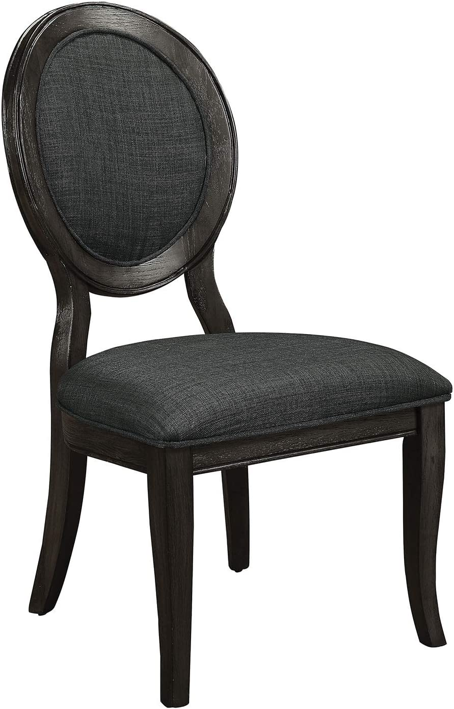 William's Home Furnishing Kathryn Side Chairs, Dark gray