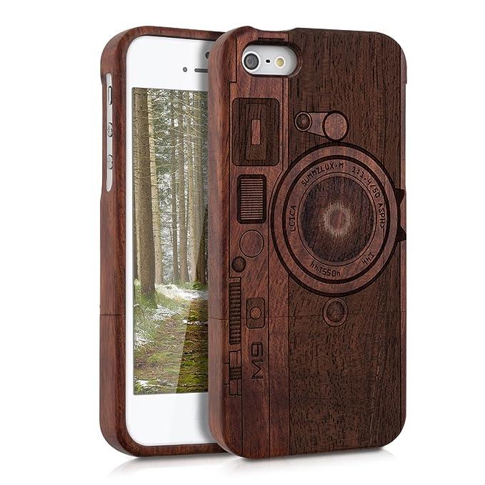 iphone se custodia legno