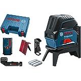 Bosch Professional kombilaser GCL 2-50 (röd laser, inomhus, 3x AA, laserdiod: 630–650 nm, självnivellerande ± 4°, i…