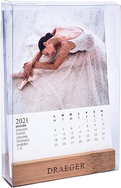 Draeger   Petit Calendrier 2021 Danse sur Socle   Papier Rigide