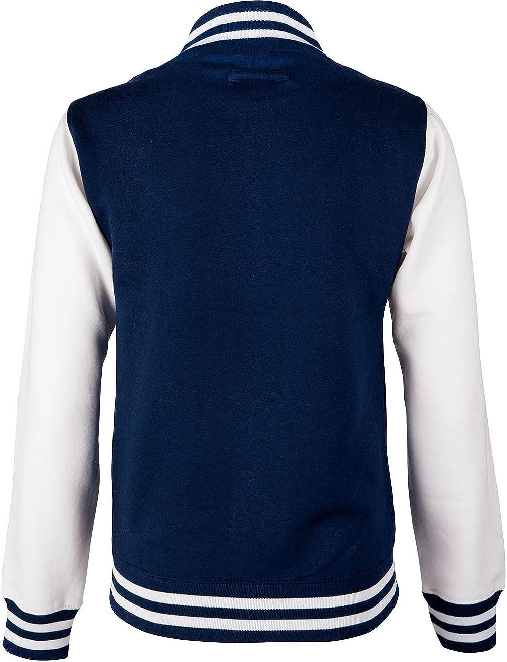 Kinder Herren EZYshirt/® Wunschinitalen Wunschnummer College Jacke f/ür Damen