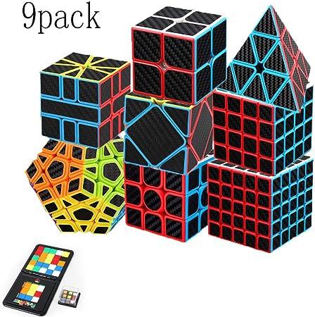 Cubo De Rubix Aiduy Speed Cube Bundle 2x2, 3x3, 4x4, 5x5, Conjunto De Pirámide Rubix, Super Rubix, Rubix De Cubo Inclinable, Rubix De Deformación De Cubo Irregular, Dos Personas Que Luchan Rubix (