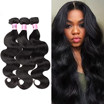 Brazilian Body Wave Human Hair Bundles Weave Hair 3 Bundles 100%  Unprocessed Virgin Human Hair 9a47488480