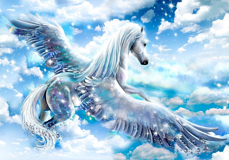 murando Fototapete selbstklebend Pegasus 49x35 cm Tapete Wandtapete Klebefolie Dekorfolie Tapetenfolie Wand Dekoration Wandaufkleber Wohnzimmer Fantasie g-C-0068-a-b