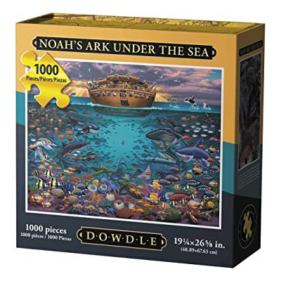 Dowdle Folk Art Puzzles - Noah's Ark Under The Sea Puzzle, 1000 Pieces: Toys & Games