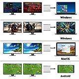 Windows、MacOS、Android OSを兼ねますUSB C 3.1 Type-C 2 DP 、2ポートデュアルDisplayPort 1.2出力ディスプレイアダプター、2つの4K 60Hzモニター、Type-c〜DPハブをサポートHUB (Apple MacBook Pro システム用)2 台の 4K モニタを接続可能