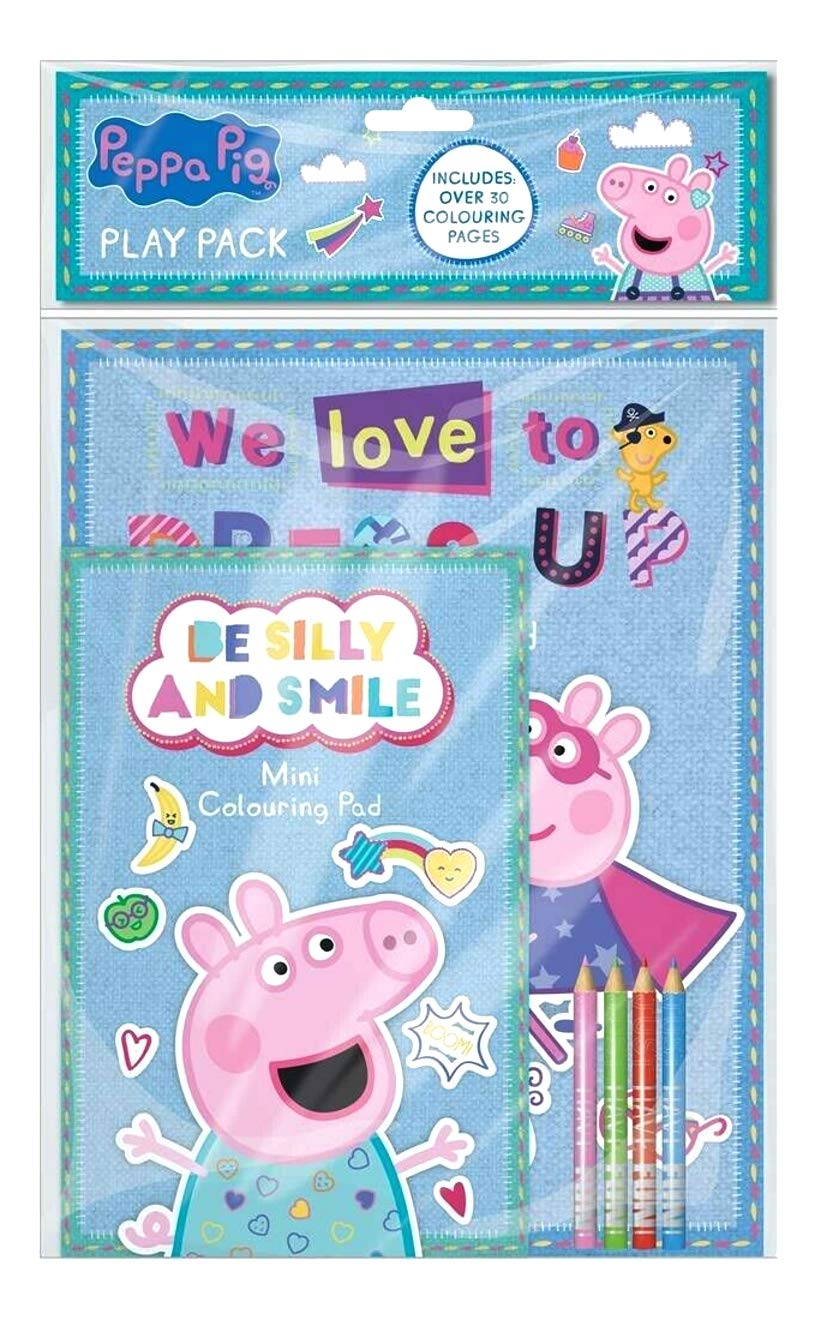 PEPPA PIG GEORGE PLAY PACK A4 COLOURING BOOK /& A5 PAD WITH COLOUR PENCILS PEPPK3