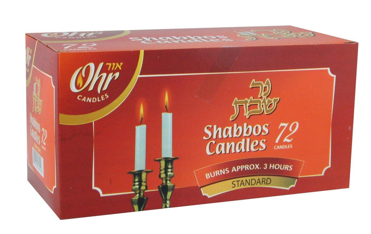 "Lot 72 Manischewitz Paraffin 4/"" Shabbos Emergency Camping Storm 3 Hour Candles"