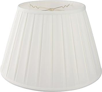 """Cream Box Pleat Empire Drum Table Lamp Shade 10/"""" or 11/"""" Diameter"""