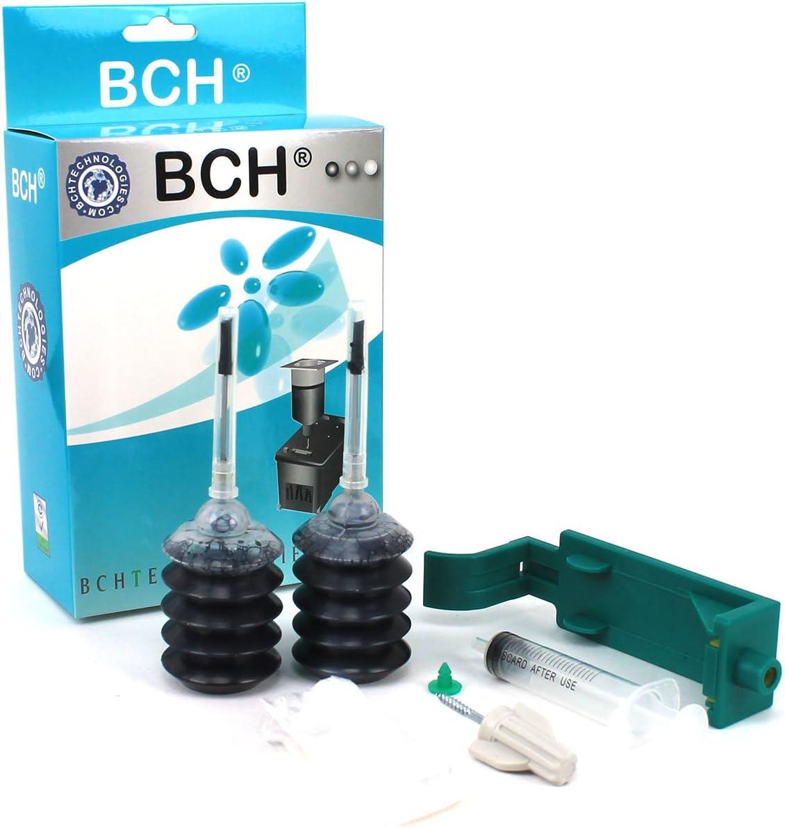 Ink Refill Kit by BCH Compatible to HP 15, 40, 45 Black Cartridge Deskjet Printer H1045B