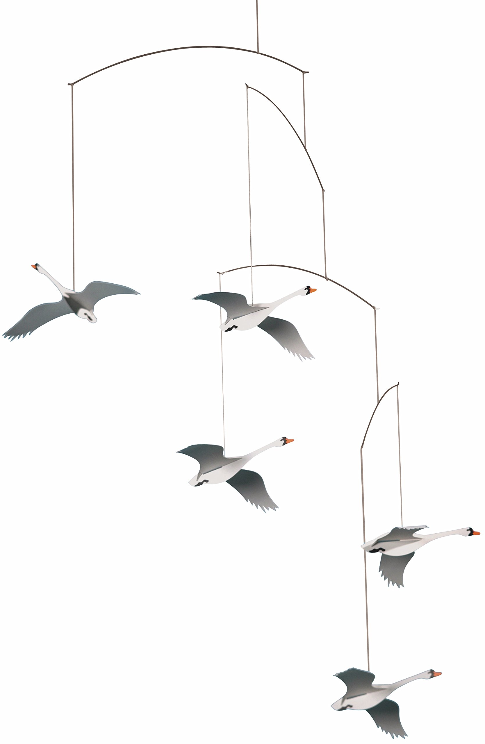 Flensted Mobiles Scandinavian Swan Hanging Mobile - 22 Inches Cardboard