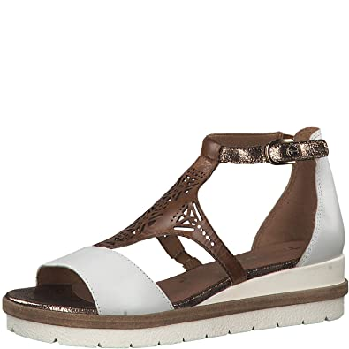 the cheapest best sale first look Tamaris 1-1-28228-22 Damen  Keilsandalen,Sandalen,Keilsandaletten,Keilabsatz,Sommerschuh,bequem,flach,Touch-IT