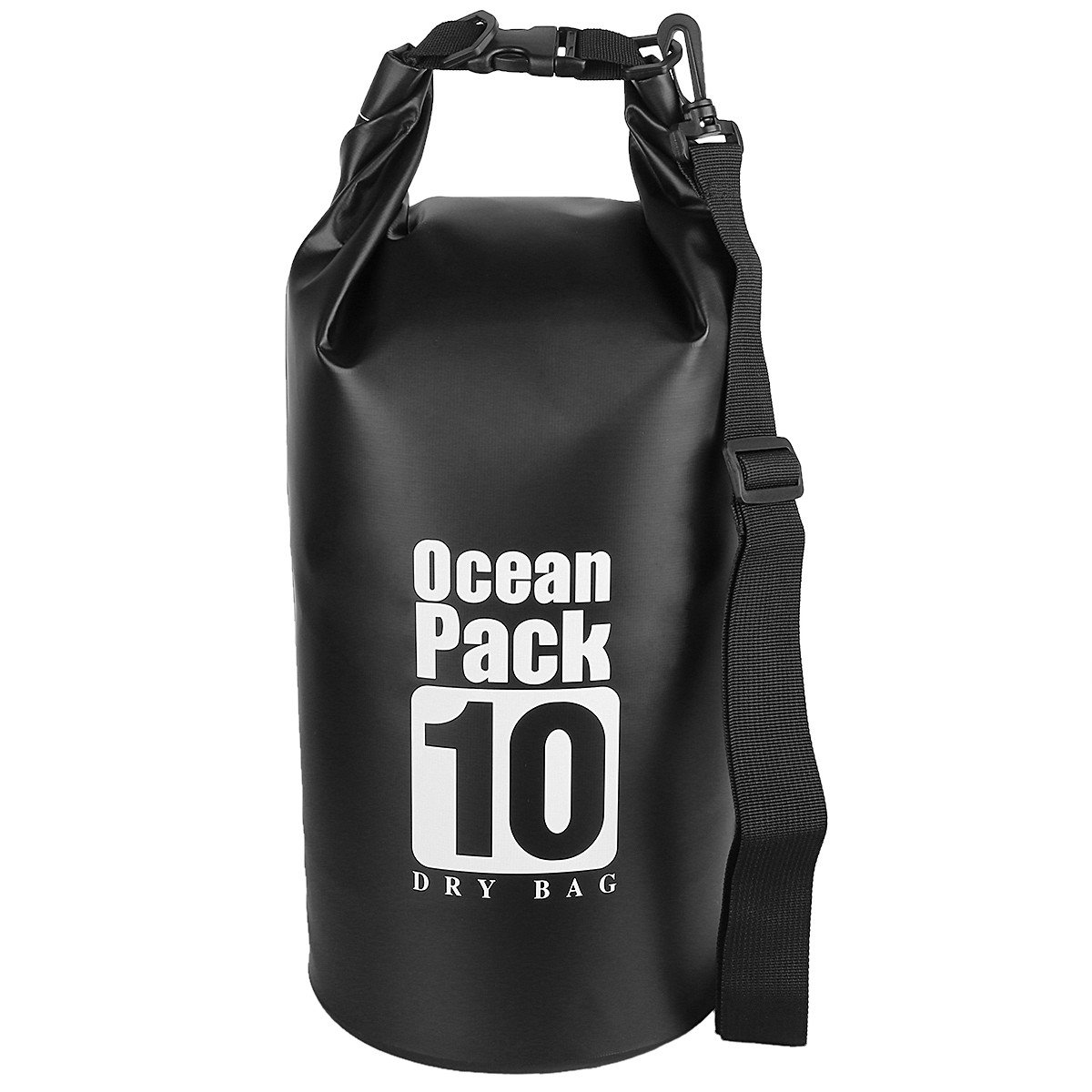 sportmusies 10l / 20l / 30l水ドライバッグ袋、頑丈PVC防水ギアバッグforカヤックボートカヌー B07BVK9WPM Black/10 Liters  Black/10 Liters