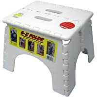Folding Step Stool - #101-6 - 9 Inches High - 300 Pound Capacity - White
