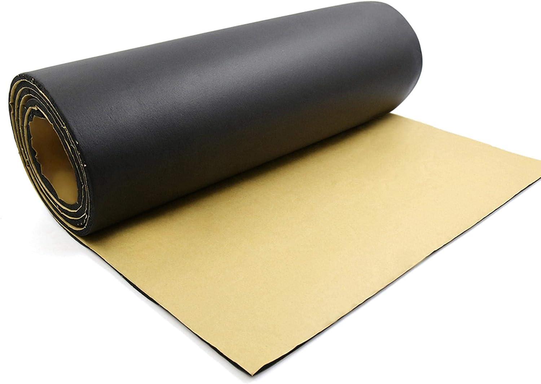 "uxcell 315mil Car Studio Sound Acoustic Absorption Heatproof Wave Foam Deadener Mat 157.5""x19.7"" 21.5sqft"