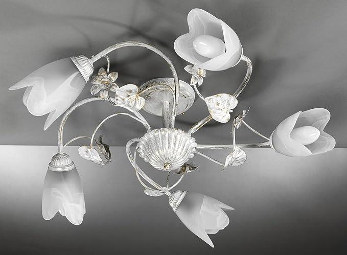 ONLI - Lámpara de techo 5 luces E14 Serie Petunia ...