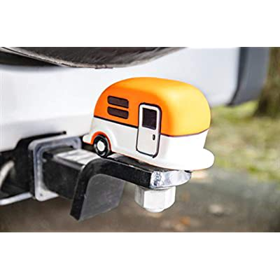 Camco Life is Better at The Campsite Hitch Cover, Orange | Protects Your Hitchball from Dirt and Rust | Compatible with 1-7/8-inch and 2-inch Diameter Balls (53236): Automotive