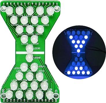 Gikfun Electronic Hourglass led DIY Kits Welding Practice Board Blue Ray EK1886