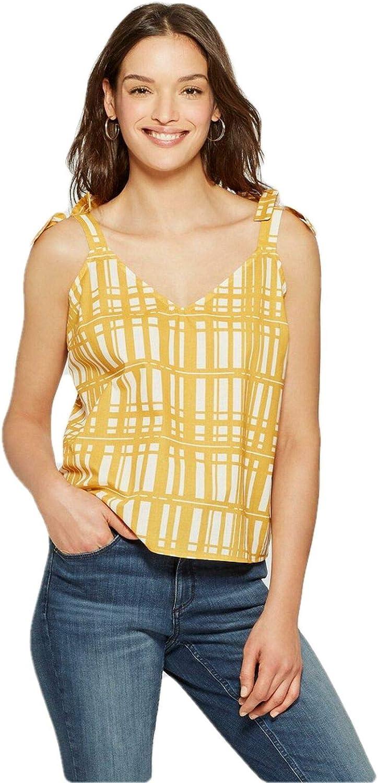 Universal Thread, Camiseta sin Mangas de algodón Amarillo a ...
