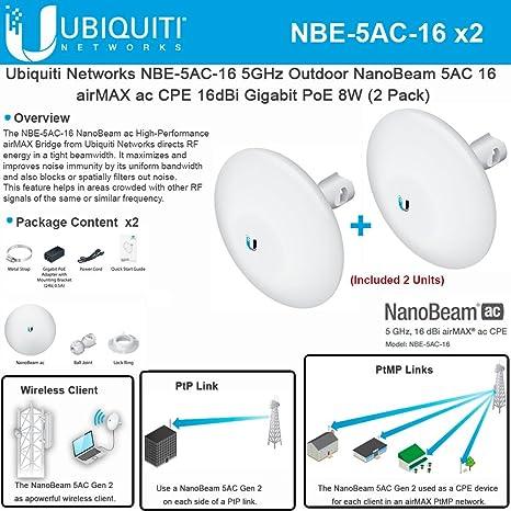 ubiquiti wiring diagram amazon com ubiquiti nbe 5ac 16 2 pack 5ghz nanobeam 5ac 16 airmax  amazon com ubiquiti nbe 5ac 16 2 pack