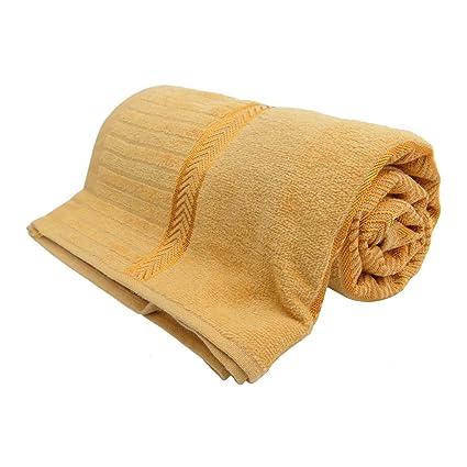 Amarilla de la toalla de baño de la playa de baño de spa en seco Gimnasio