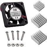 Smraza Cooling Fan for Raspberry Pi 3 with 3 Pcs Heatsinks DC 5V for Raspberry Pi 2 3 Model B