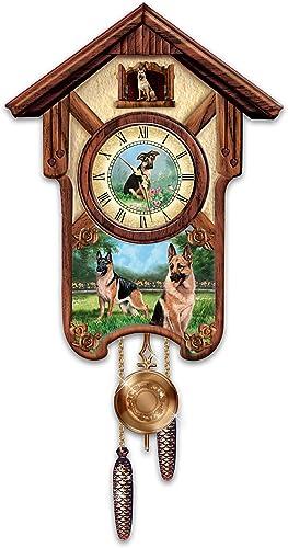 The Bradford Exchange Linda Picken German Shepherd Cuckoo Clock with Barking Dog