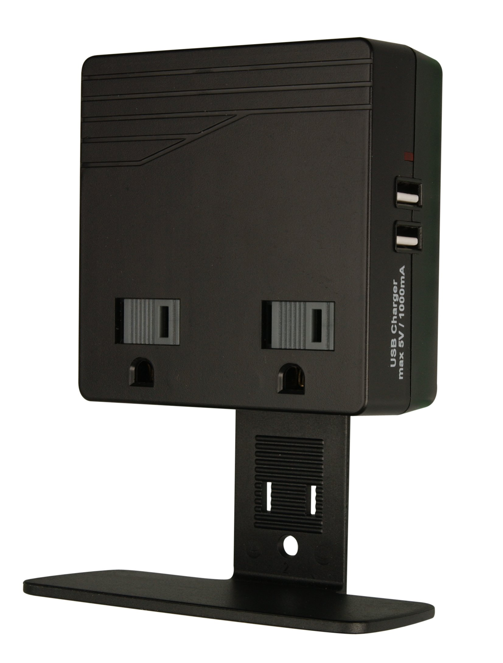 Woods 041050 USB Charger Combo 2-Outlet Surge Protector, Black, 450 Joules of Protection by Woods (Image #3)
