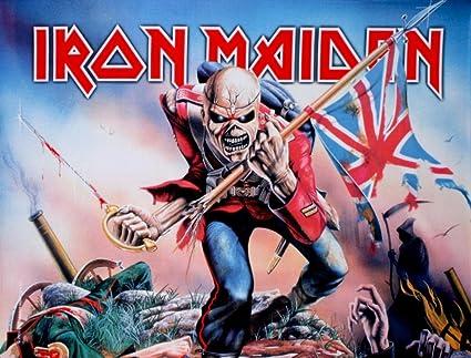 6ac1dc6d5f8864 Amazon.com  LPGI Iron Maiden Trooper Large Fabric Poster   Flag 40 ...