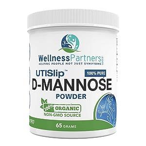 Now New UTI-Slip D Mannose Non GMO Organic Source Powder 65g jar